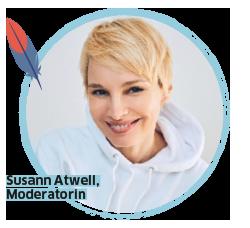 BUDNIANER HILFE Botschafterin Susann Atwell, Moderatorin